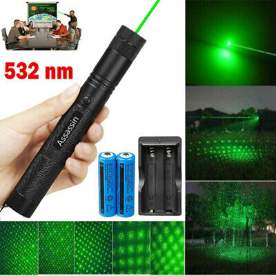 900miles Green Laser Pointer Star Beam Rechargeable Lazer Torchbatterycharger