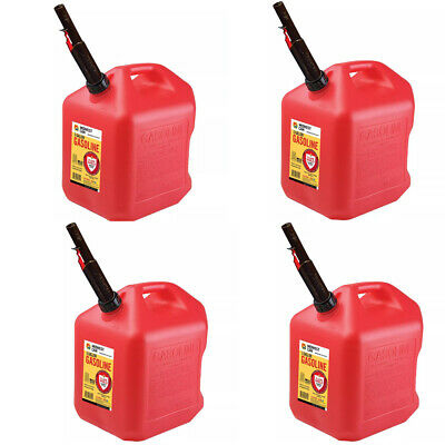 Midwest Can 4pk Gas Can - 5 Gallon Capacity Pack Of 4
