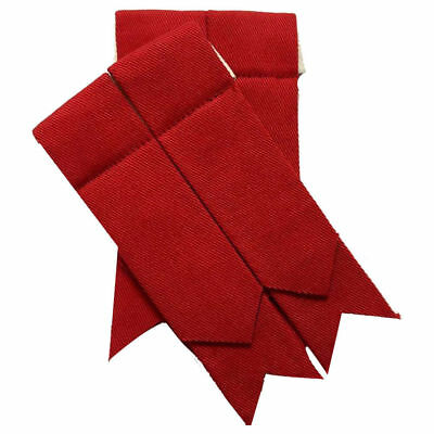 Scottish Kilt Hose Flashes Plain Red/kilt Sock Flashes/kilt Flashes Red