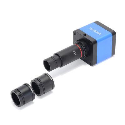 16mp Hdmi Usb Microscope Electronic Digital Camera 0.5x Eyepiece Lens 30mm Adap