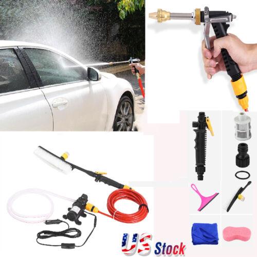 Portable 12V 70W Spray Car Wash Washer Gun High Pressure Ele