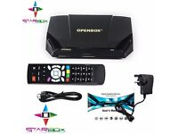 ★BUILT IN WI FI AND MOVIES CLUB★OPENBOX V 9 S DIGITAL FREESAT HD TV SAT RECEIVER★12 Mths