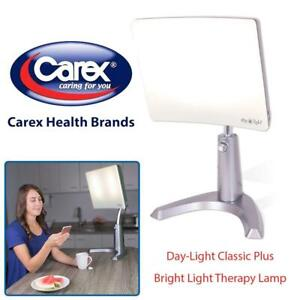 NEW Carex Day-Light Classic Plus Bright Light Therapy Lamp - 10,000 LUX - Sun Lamp Mood Light Condtion: New, Day-Ligh...