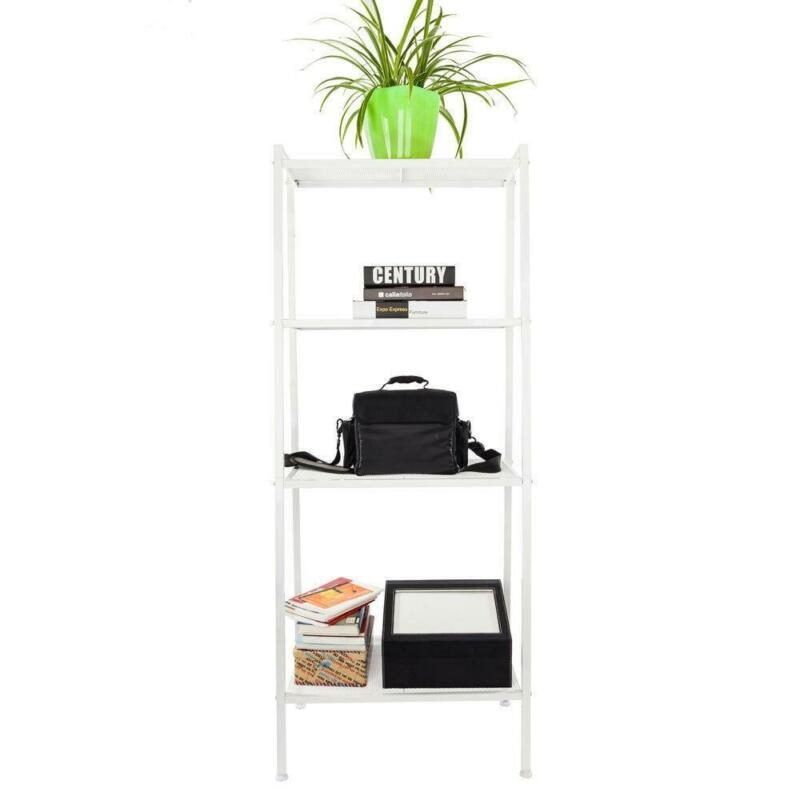 4 Tier Ladder Shelf Bookcase Storage Display Leaning Home Offices Shelves