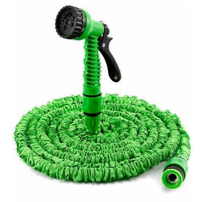 25 - 250 Ft Long Expandable Water Spray Gun Flexible Pipe Magic Hose Car Garden