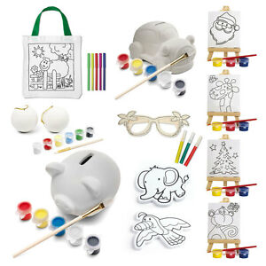 Kids Decorate Your Own Gift Party Bag Xmas Stocking