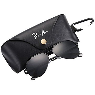 Small Sunglasses Polarized Aviator For Adult Face Junior,52mm (Black (Sunglasses For Small Framed Faces)