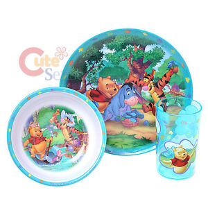 Winnie-The-Pooh-and-Friends-Dinnerware-Set-3Pc-Kids-Dining-Set-with-Bag