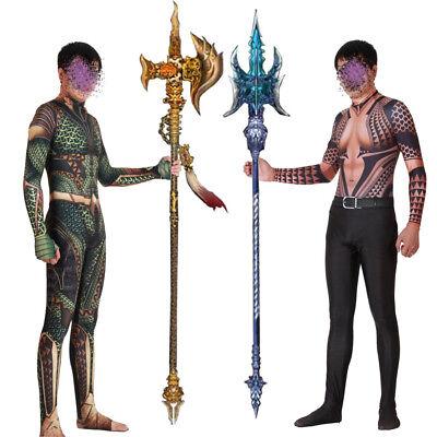 Arthur Halloween-kostüm (Aquaman Arthur Curry Orin Marvel Superhero Cosplay Halloween Costume Bodysuit)