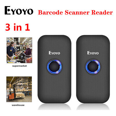2x Bluetooth 2.4g Wireless Usb Wired Barcode Scanner For Phone Tablets Ipad