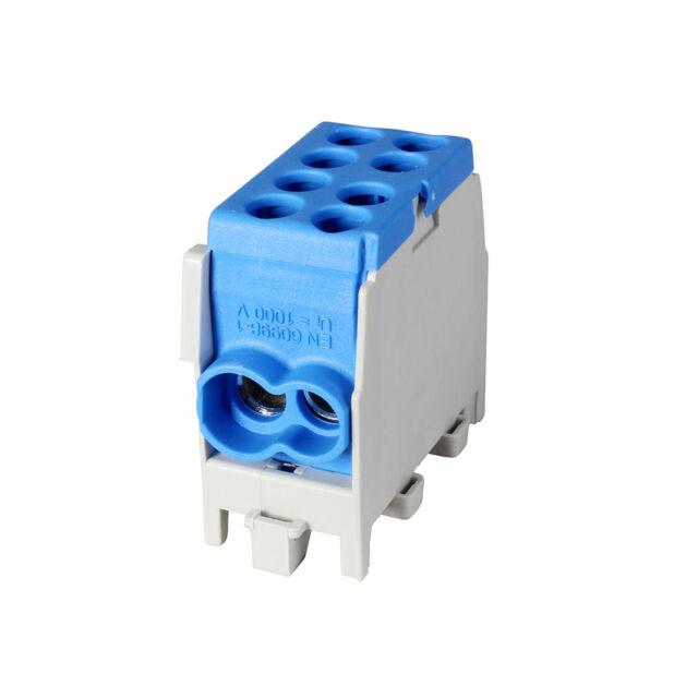 Pollmann Hauptleitungs-Abzweigklemme für Tragschienen DIN-Schiene 1/2 M2 blau