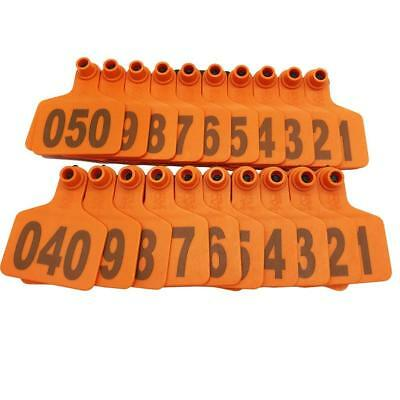 1000cattle Ear Tags Customized Cow Livestock Ear Mark Identification Tags Orange