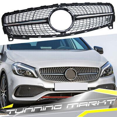 Kühlergrill Diamant Grill für Mercedes Benz A W176 A45 AMG Facelift 15-19 pz136