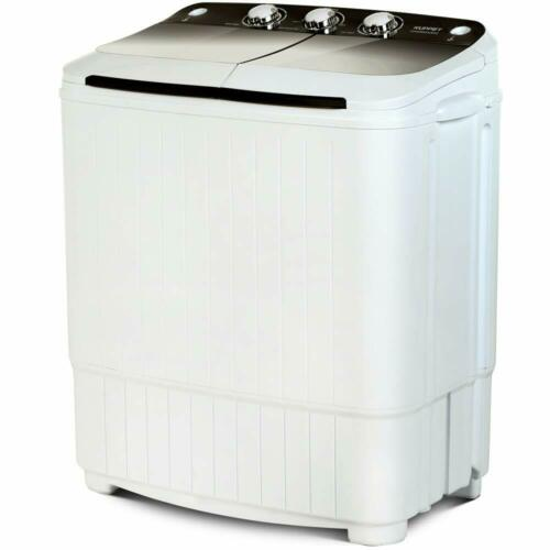 17LBS Portable Compact Washing Machine Twin Tub Laundry Wash