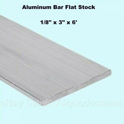 Aluminum Bar Flat Stock 18 X 3 X 6 Ft Unpolished 6061 Alloy 72 Length