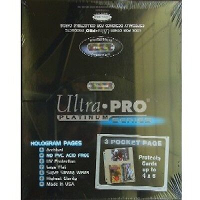 50 Ultra Pro 3 Pocket Pages 4 X 6 Sheets Protectors New Photo Postcard Refill