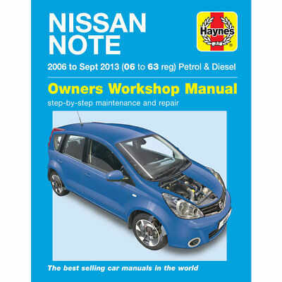 Nissan Note 1.4 1.6 Petrol 1.5 Diesel 2006-Sep 13 Haynes Workshop Manual