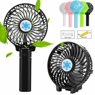 New Quiet Rechargeable Fan Air Cooler Mini Operated Hand Held USB +18650 Battery