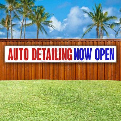 Auto Detailing Now Open Advertising Vinyl Banner Flag Sign Large Huge Xxl Size