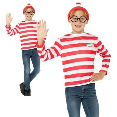 Kinder Wheres Wally Sofort Set Buch Woche Jungen Mädchen Kostüm Kinder - Wheres Wally Kostüm Kinder