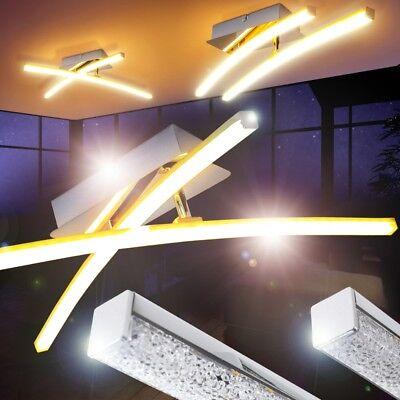 LED Lámpara de techo mdoerno cromo luces giratorias salon dormitorio comedor
