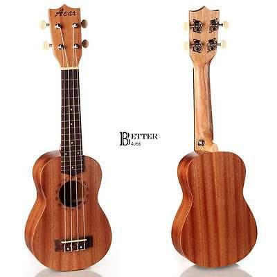 "21"" Concert Ukulele Mini Hawaiian Guitar 4-String Musical Instrument Sapele Wood"