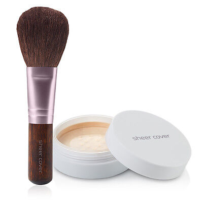 Sheer Cover – Perfect Shade Mineral Foundation – Natural Finish – FREE Brush!