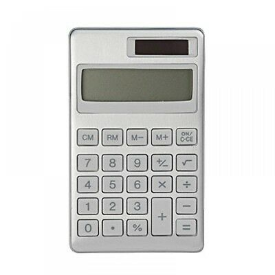 MUJI Calculator 8 digit Aluminum (BO-193) Solar cell 69 X 117 X 7 mm MoMA