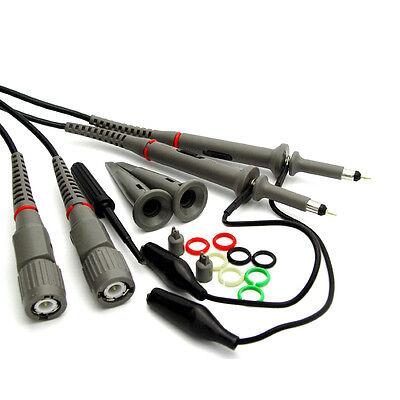 Hantek Pp-150 2pcs X1x10 100mhz Oscilloscope Clip Probes W Accessory Kit Pack