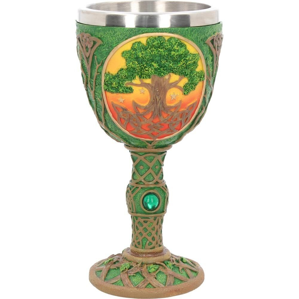 Celtic Dawn Tree of Life Resin Chalice ~ Pagan ~ Wicca ~ Altar