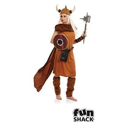 Viking Lady - Costume Fancy Dress Mens Ladies Medieval Outfit Warrior Thor (Lady Thor Costume)