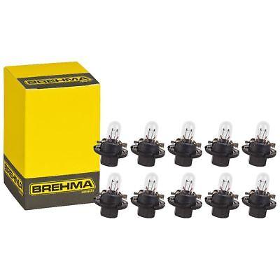 10x BREHMA BX8.4d Schwarz Instrumentenbeleuchtung 12V 1,2W Tacholampen 8.4 V 1