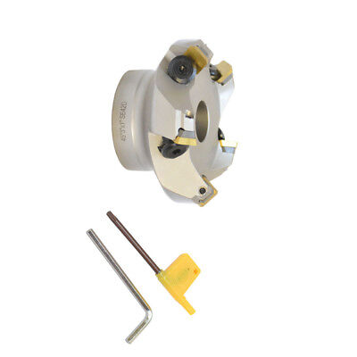 45 Degree Indexable Face Mill Cutter 3 Inch Cutting With Sekn Inserts