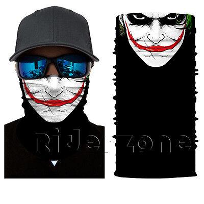 5 Pcs Joker Clown Face Shield Sun Mask MULTI-USED Fishing Neck Gaiter Bandana UV