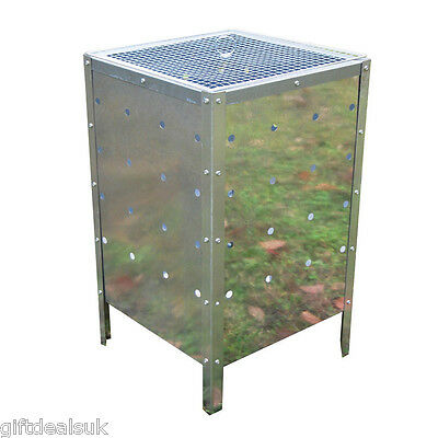 LARGE 90LTR SQUARE INCINERATOR FIRE BIN GALVANISED GARDEN BURNING RUBBISH TRASH