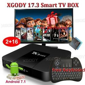 NEW 2018 TX3 mini NEW KODI 17.3 2GB+16GBHD Android 7.1.2 Quad Core Smart TV BOX KODI BOX & Keyboard
