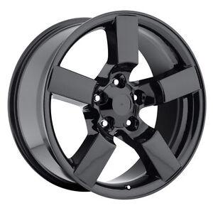 20 gloss black ford f150 svt lightning expedition wheels. Black Bedroom Furniture Sets. Home Design Ideas