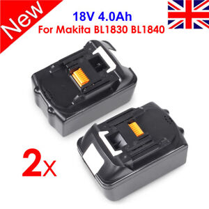2 X 4.0Ah 18V Lithium Ion Battery For Makita BL1840 BL1830 LXT400 UK