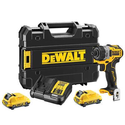Dewalt DCF601D2 12V XR Brushless Sub-Compact Screwdriver With 2 x 2Ah Batteries (Dewalt Compact Screwdriver)
