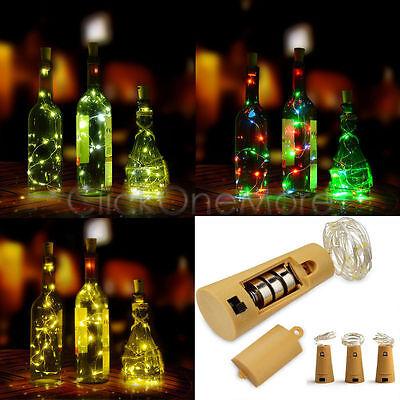 Charm 15 LED Cork Shaped LED Night Starry Light Wine Bottle Lamp for Xmas Party
