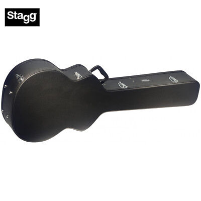 Stagg GCA-AB Hard Shell Case for Acoustic Electric Bass Guitar - Black