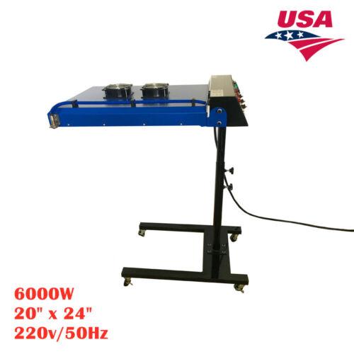 "USA-20"" x 24"" 6000W Screen Printing Automatic IR Flash Dryer with Sensor 220V"