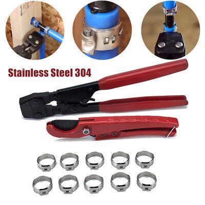 Pex Plumbing Crimper Tool Lock Hook Cutter Tool Stainless Steel Cinch Clamps Kit