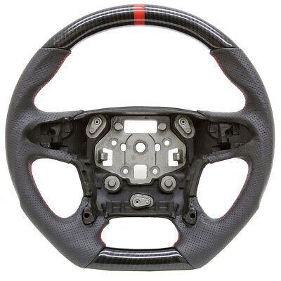 Handkraftd 15-19 Chevy/GMC Base SUV Truck Steering Wheel Hydro Carbon w/ Leather