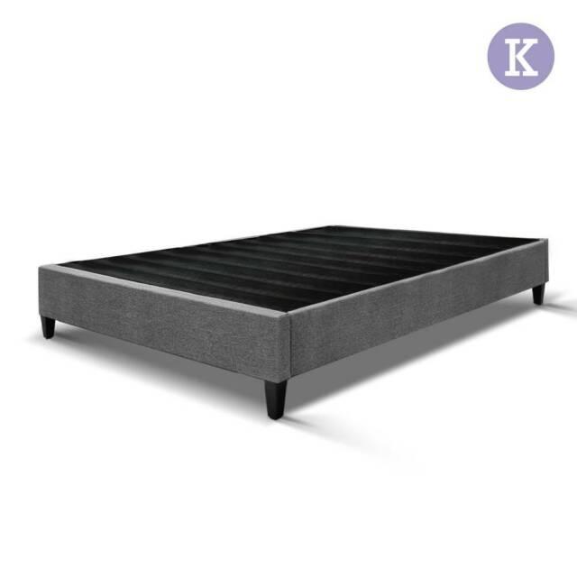 Artiss King Size Bed Base Frame Pine Wood Slats