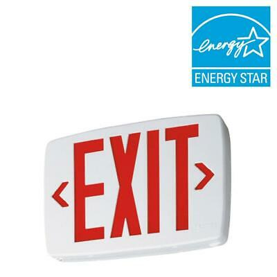Lithonia Lighting Quantum Led Emergency Exit Sign Red Letters 142an5 - New
