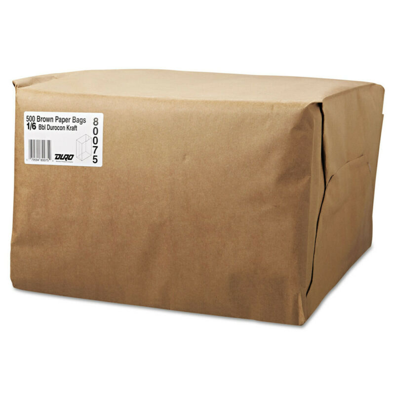 General SK1652 500-Pc. 52 lbs. 12 x 17 in. 1/6 Grocery Paper Bags New