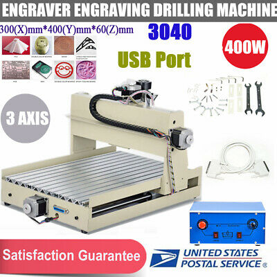 Usb 3axis 3040 Cnc Router Wood Engraving Milling Cutting Machine 400wcontroller