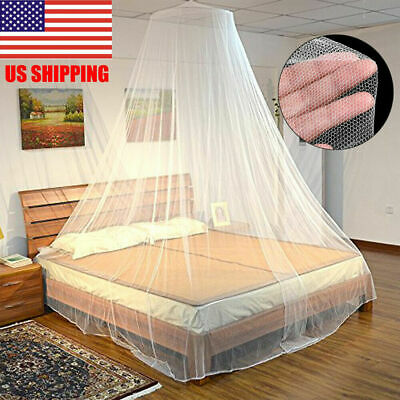 Circular Ring Princess Garden Canopy Mosquito NET LED Light Suitable for Girls Teenagers or Baby Bed Double Bed.