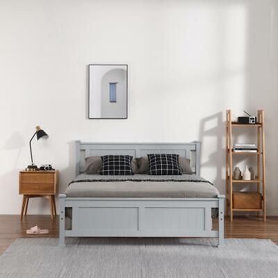 Twin/Full/Queen Size Bed Frame Headboard Platform Wooden Bedroom Furniture